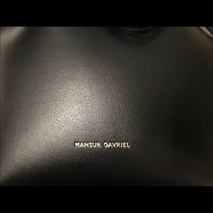 Mansur Gavriel Bags - Mansur Gavriel Black Bucket Bag w/Pouch